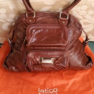 "Latico ""Autumn"" Coin Keeper Dome LeatherBag, Great"